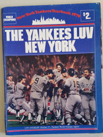 1979 Yankees Yearbook Very Good Sl loose at staples, wear on covers, inside clean