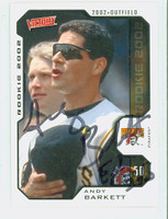 Andy Barkett AUTOGRAPH 2002 Upper Deck Victory Pirates 
