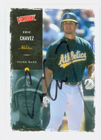 Eric Chavez AUTOGRAPH 2000 Upper Deck Victory Athletics 