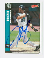 Derrek Lee AUTOGRAPH 2001 Upper Deck Victory Marlins 