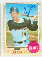 Gene Alley AUTOGRAPH 1968 Topps #53 Pirates CARD IS CLEAN VG  [SKU:AlleG1634_T68BBcm]