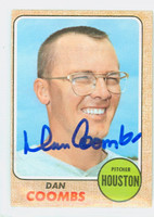 Dan Coombs AUTOGRAPH 1968 Topps #547 High Number Astros CARD IS VG, CRN WEAR; AUTO CLEAN  [SKU:CoomD1413_T68BBcm]
