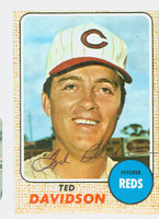 Ted Davidson AUTOGRAPH d.06 1968 Topps #48 Reds CARD IS CLEAN VG