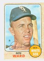 Pete Ward AUTOGRAPH 1968 Topps #33 White Sox CARD IS VG/EX, OC, AUTO CLEAN