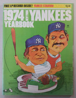 1974 Yankees Yearbook - without Vinyl record (74 pgs) Near-Mint Very lt wear on cover, ow very clean