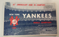 1963 Yankees Program vs Tigers (24 pg) Scored Jun 15 Downing vs Lolich (NY 9-2, HR Tresh, Colavito) Very Good to Excellent [Wear on both covers, ow neatly scored]