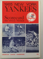 1965 Yankees Program vs Tigers (32 pg) Part Scored 3.5 IN Sep 18 Downing vs Sparma (Det 4-3, HR Barker) Excellent [Scored neatly in pencil 3.5 INN, very lt wear)]