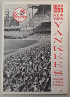 1966 Yankees Program vs Athletics (28 pg) Scored May 1 Peterson vs Dobson (NY 10-4, HR Roger Maris #1 in 1966) Very Good [Lt wear, neatly scored; scorecard detached but present]