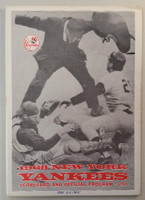 1968 Yankees Program vs White Sox (28 pg) Scored May 24 Bahnsen vs John (NY 1-0, Clarke Walk-Off single) Very Good [Middle 4 pgs detached but present, date WRT on cover, ow clean]