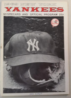 1969 Yankees Program vs Orioles (28 pg) Double Header Scored May 4 Burbach vs McNally, Kekich vs Hardin (Orioles Sweep) Very Good to Excellent [Both games scored, staple rust, some cover wear]
