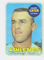 Danny Cater AUTOGRAPH 1969 Topps #44 Athletics CARD IS CLEAN VG/EX