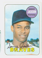 Sonny Jackson AUTOGRAPH 1969 Topps #53 Braves CARD IS CLEAN VG/EX