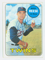 Rich Reese AUTOGRAPH 1969 Topps #56 Twins CARD IS CLEAN VG/EX