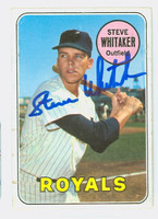 Steve Whitaker AUTOGRAPH 1969 Topps #71 Royals CARD IS G/VG; SURF WEAR, CRN WEAR, AUTO CLEAN