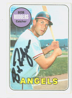 Bob Rodgers AUTOGRAPH 1969 Topps #157 Angels CARD IS G/VG; LT CREASE, AUTO CLEAN  [SKU:RodgB1278_T69BBCC]