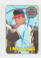 Jose Cardenal AUTOGRAPH 1969 Topps #325 Indians CARD IS F/G; RND CRNS; AUTO CLEAN  [SKU:CardJ1727_T69BBCC]