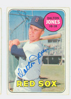 Dalton Jones AUTOGRAPH 1969 Topps #457 Red Sox CARD IS VG; CRN WEAR, AUTO CLEAN