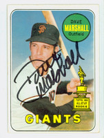 Dave Marshall AUTOGRAPH 1969 Topps #464 Giants Yellow Letters CARD IS CLEAN VG/EX
