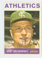 Moe Drabowsky AUTOGRAPH d.06 1964 Topps #42 Athletics CARD IS CLEAN EX