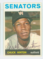 Chuck Hinton AUTOGRAPH d.13 1964 Topps #52 Senators CARD IS CLEAN NMT