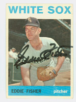 Eddie Fisher AUTOGRAPH 1964 Topps #66 White Sox CARD IS CLEAN VG