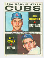 Billy Cowan AUTOGRAPH 1964 Topps #192 Cubs Rookies CARD IS CLEAN VG, CRN DING, AUTO CLEAN  [SKU:CowaB984_T64BBR]