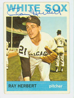 Ray Herbert AUTOGRAPH 1964 Topps #215 White Sox CARD IS CLEAN VG/EX
