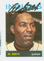 Al Smith AUTOGRAPH d.02 1964 Topps #317 Indians CARD IS CLEAN NMT  [SKU:SmitA519_T64BBR]