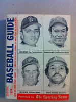 1974 TSN Official Baseball Guide (576 pg) - Cover: Bryant, Bonds, Palmer, Reggie Very Good to Excellent [Lt wear on both cover, contents great]