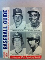 1976 TSN Official Baseball Guide (536 pg) - Cover: Seaver, Morgan, Palmer, Lynn Very Good [Lt wear on cover, sl paper loss on rev cover; contents great]