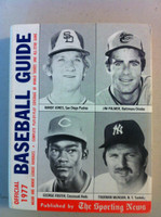 1977 TSN Official Baseball Guide - Cover: Jones, Palmer, Foster, Munson Excellent