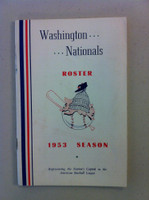 1953 Washington Senators Roster / Media Guide (42 pg) Excellent [Player Bios, Schedule - sl wear on cover]