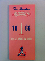 1966 Washington Senators Media Guide (54 pg) Near-Mint to Mint [Very sharp, feels like new]