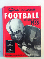 1955 Official Collegiate Football Record Book (192 pg) (Howard Cassady, Ohio State on cover) Good to Very Good [Pen marks on cover, ow VG/EX, contents fine]