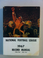 NFL 1967 Record Manual (Vince Lombardi of GB Packers on cover) Excellent [Lt wear on cover, contents great]