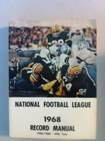 NFL 1968 Record Manual (Bart Starr of GB Packers from Ice Bowl on cover) Excellent [Lt wear on cover, contents great]