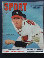 1953 Sport Magazine August Warren Spahn Good to Very Good