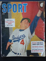 1955 Sport Magazine September Duke Snider Fair to Poor