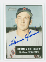 Harmon Killebrew AUTOGRAPH d.11 2003 Bowman Heritage 1956 Phantom Bowman Design Senators 