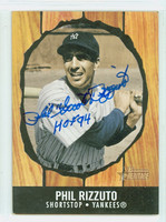 Phil Rizzuto AUTOGRAPH d.07 2003 Bowman Heritage 1958 Hires Design Yankees   [SKU:RizzP1887_BWHER03]