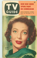 1953 TV Guide Dec 4 Loretta Young NY Metro edition Very Good to Excellent - No Mailing Label  [Heavy creasing on cover; sl tear on back cover; contents fine]
