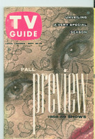 1958 TV Guide Sep 20 Fall Preview Michigan State edition Excellent - No Mailing Label  [Lt wear and scuffing on cover; contents fine]