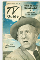 1952 TV Guide April 18 Jimmy Durante (40 pg) NY Metro edition Very Good - No Mailing Label  [Heavy scuffing, lt soiling on both covers; contents fine]