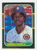 Darnell Coles AUTOGRAPH 1987 Donruss  