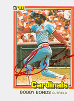 Bobby Bonds AUTOGRAPH d.03 1981 Donruss #71 Cardinals 