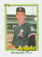 Ed Halicki AUTOGRAPH 1981 Donruss #53 Angels 