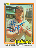 Mike Hargrove AUTOGRAPH 1981 Donruss #78 Indians 