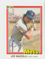 Lee Mazzilli AUTOGRAPH 1981 Donruss #34 Mets 