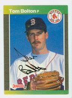 Tom Bolton AUTOGRAPH 1989 Donruss Red Sox 