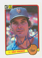 Dave Kingman AUTOGRAPH 1983 Donruss #301 Mets 